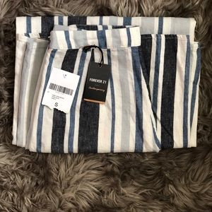 Forever 21 Wide-leg striped pants